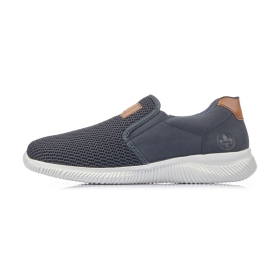 Rieker  Herrenschuhe Slipper Blau