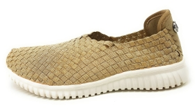 Tom Tailor  Damenschuhe Sneaker Low Slipper Gold Freizeit