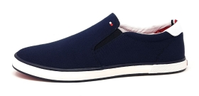 Tommy Hilfiger Iconic Slip On Sneaker Herrenschuhe Slipper Blau