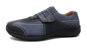 Josef Seibel Anvers 72 Herrenschuhe Slipper Blau